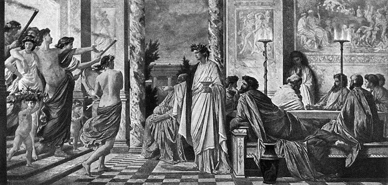 A scene from Plato's Symposium, painted by Anselm Feuerbach 1869
