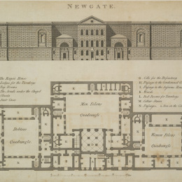 Building plan of Newgate Prison, published in 1800.