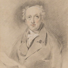 Portrait of George Dance the Younger , by George Henry Harlow 1814. Reproduced with the permissions of the National Portrait Gallery. © National Portrait Gallery, London.