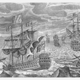 An engraving of the 1707 disaster.