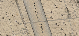 'The Cities Ditch' - Haiward & Gascoyne, engraved 1742.