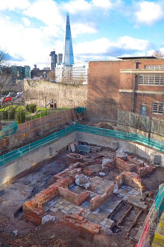Aerial photograph of the 100 Minories site - Area B