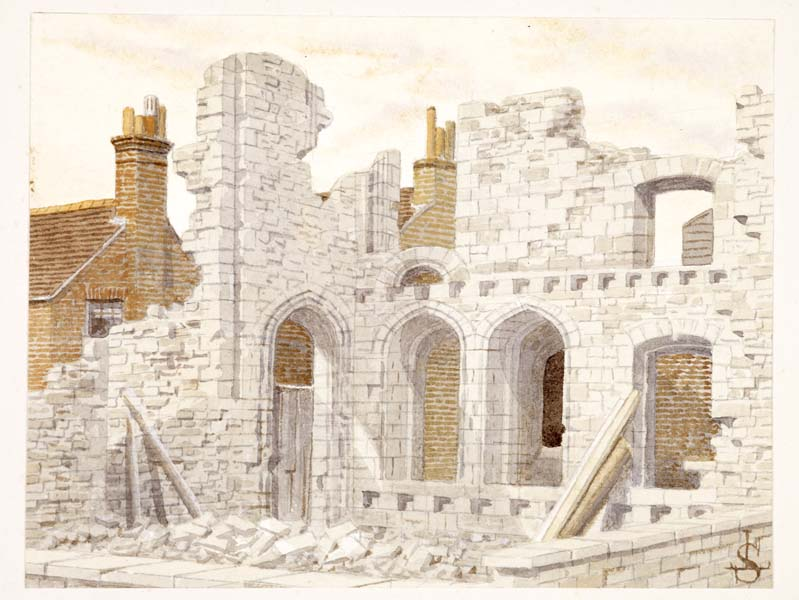 'Remains of the Convent of St. Clare, 1797', as imagined by James Lawson Stuart in 1890.