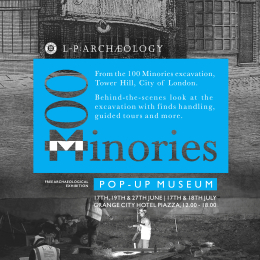 100 Minories poster. LSCW Design: http://cargocollective.com/lucywatson