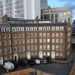 The 'Crescent' today - exists as a 1980s rebuild of one half of the original building.